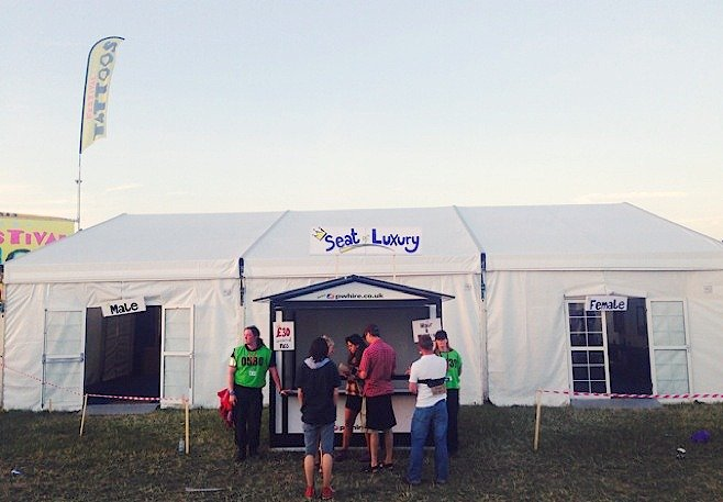 The Seat of Luxury hire Concerts and Festivals luxury tent toilets