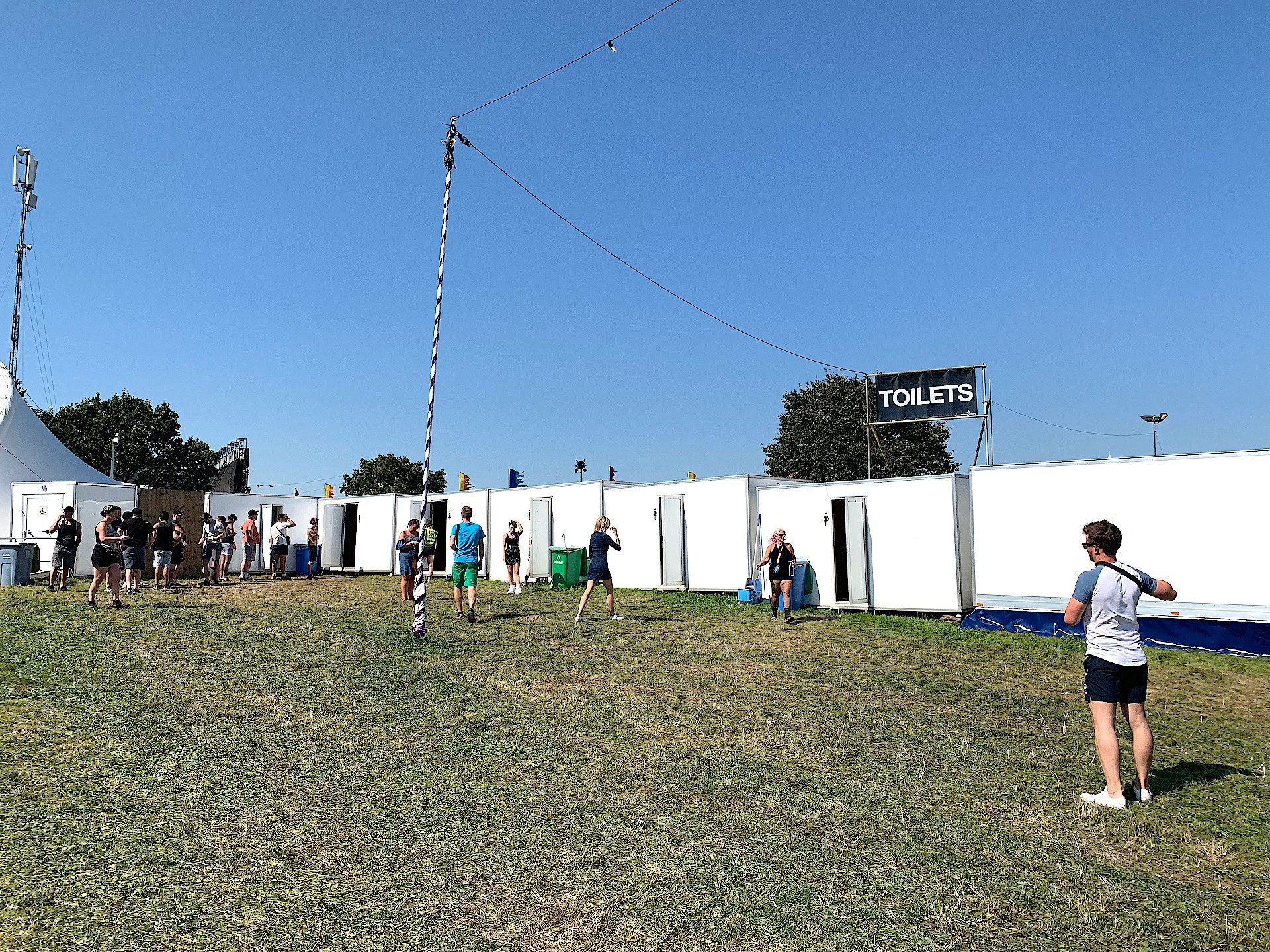 Electronic Music Festival Creamfields 2019 Toilets Trailers PODs supply