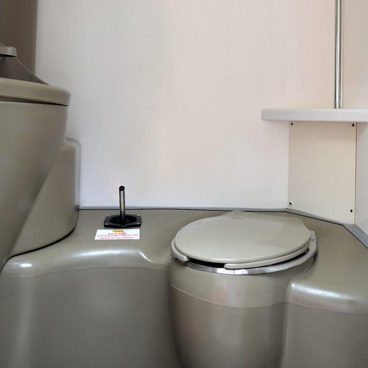 6 Bay Trailer Mounted Toilet Concerts Sanitation Equipment Rental Delivery